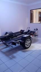Carroçinha/Reboque para moto/quad