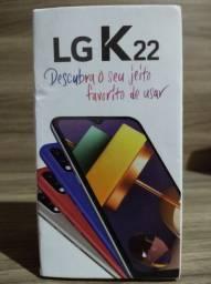 Celular  L G  k 22 aceito troca por roçadeira