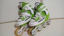 Patins Roller  - All Style Street Rollers (Verde) (Ajustável do  33 ao 33) BelSports