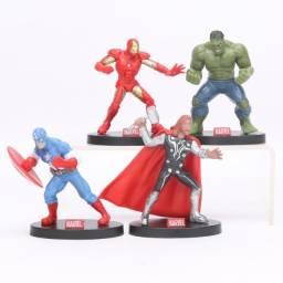 Super heróis - Miniaturas - 4 personagens