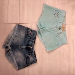 shorts jeans damyller e colcci