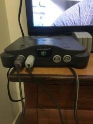 N64 dois controle 6 cartuchos