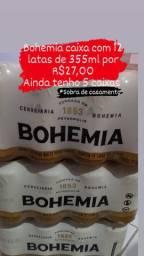 5 caixas de cerveja Bohemia 355ml