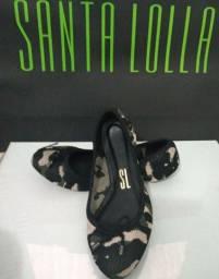 Sapatilha Knit Laço Verde Camuflado -  Santa Lolla Original número 34