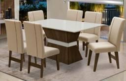 mesa com 6 cadeira//entrega e montagem na hora
