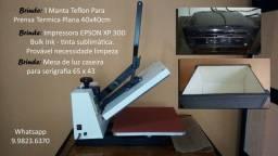 Prensa sublimadora 38x38 - R$ 1.100,00 + brindes - Seminovo