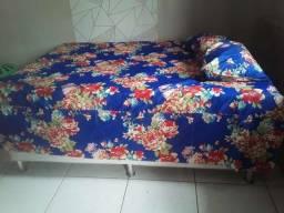 Colcha cama casal  face mais 2 travesseiro