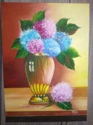 Quadro jarro flores - leia anúncio
