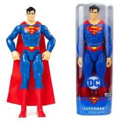 Boneco Superman Homem de Aço Liga da Justiça Dc Comics 30cm Spin Master