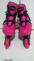 Patins Roller In-line (Rosa) (Ajustável do 37 ao 40) BelSports