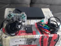 PlayStation 2 Com 6 Jogos e memorycard