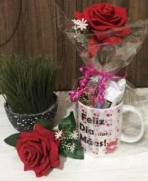 Kit Dia das mães: Caneca+ Chocolates+ Rosa