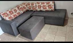 Sofá de canto espuma laminada