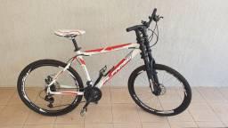 Bike Alfameq Aro 26 Disco Downhill Branca