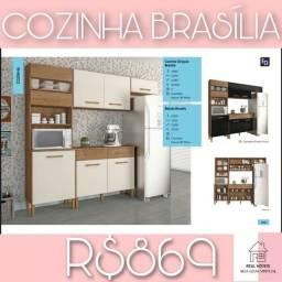 ARMÁRIO DE COZINHA BRASÍLIA/ ARMÁRIO DE COZINHA BRASÍLIA (FEITO EM MDP)
