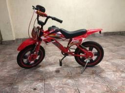 Bicicleta infantil bike moto aro 16 Unitoys