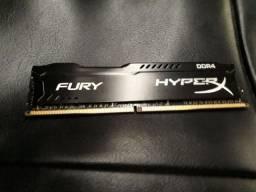 Memória Hyperx FURY DDR4 de 8 Gb -2133mhz