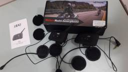Par de intercomunicadores comunicador capacete ejeas 6riders completo
