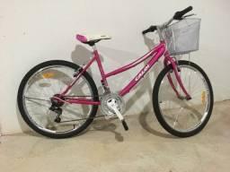 Vendo Bike Caloi Feminina, tamanho P, 2019. Não troco.