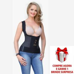 Cinta Modeladora Térmica Postura Colete Abdominal  Redutor + Brinde