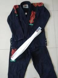 Kimono OSS preto jiu jitsu
