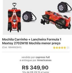 Mochila carrinho + lancheira Maxtoy