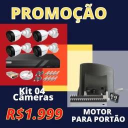 promoção kit cfvt 4CH completo + motor para portão abert. 12 seg / por apenas R$1.999,00