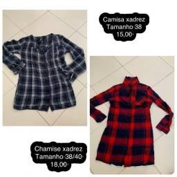 Camisas xadrez bazar