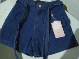 Shortes jeans cintura alta tamanho 36
