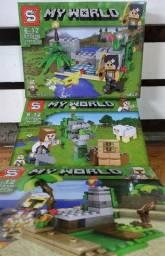 3 Legos My World Minecraft 330 peças