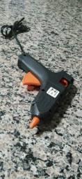 Pistola de cola quente preta seminova