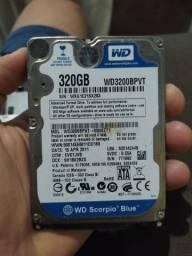 HD para notbook - WD 320gb