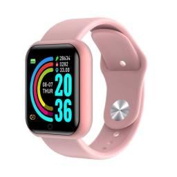 Relógio smartwatch rosa lindo!!! NOVO