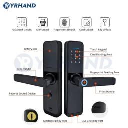 Fechadura Digital Biometria Smart App Tuya Yrhand