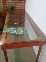 mesa grande rustica vidro 10 mm