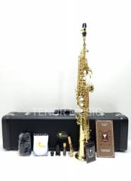 Sax Soprano Reto Eagle Sp502 NOVO a Pronta Entrega