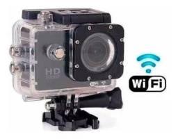 Câmera Wifi Capacete Esporte Mergulho Hd 1080p 4k