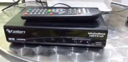 Antena parabólica e receptor Century HDMI