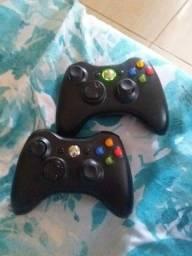 2 controles xbox 360 novos