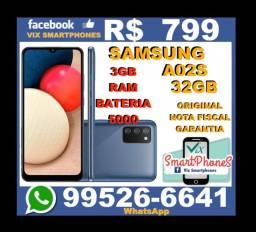 Caixa Lacrada A02S 3GB Ram 32GB Samsung    3686qpmdm()()()