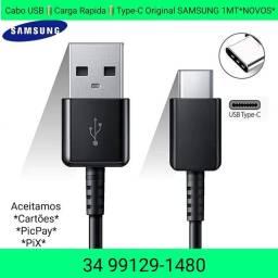 Cabo USB Carga Rápida Type-C Original SAMSUNG 1MT NOVAS ÚLTIMOS APROVEITE.