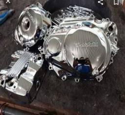 Moto pintura metalizada