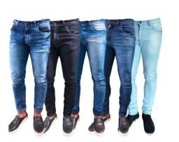 Kit 2 Calça Jeans Skynni Escuro e Claro Masculino