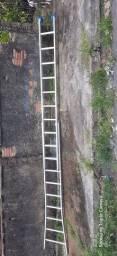 Escada dupla em alumínio 20 degraus, 10 + 10