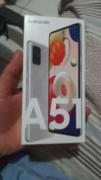 Smartphone Samsung a51 novo com garantia de um ano