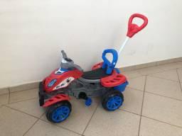 Carrinho De Passeio/Pedal Infantil Com Empurrador Criança - Spider - Maral