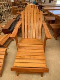 Cadeira Adirondack em madeira maciça angelim pedra