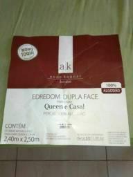 Edredon queen 100% algodão