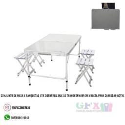 Banqueta e mesa - produto novo e últimas unidades