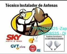 Antena digital e satélite